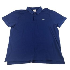 Lacoste Mens Polo Shirt Blue Size 7 XL Short Slv